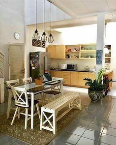 New kitchen remodel ideas flooring layout Ideas Kitchen Sets, Home Decor Kitchen, Kitchen Furniture, Kitchen Interior, New Kitchen, Kitchen Design, Kitchen Small, Office Furniture, Diy Furniture