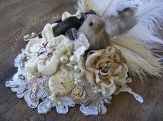 R1200  Steampunk fascinator  Elsibe by KathleenBarryJewelry, #wedding #steampunk