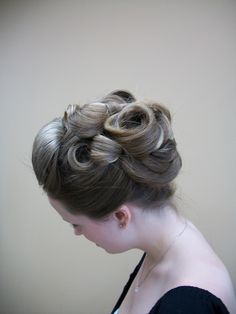 Pin Curl Updo Pin Curl Updo, Pin Curls, Hair Reference, Hair Studio, Formal Hairstyles, Hair Colors, Updos, Hair Ideas, Spa