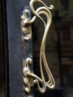art nouveau door handle