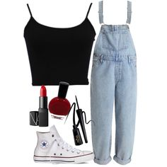 Look from SmartCloset Cute Summer Outfits, Cute Casual Outfits, Chic Outfits, Dress Outfits, Fashion Outfits, Womens Fashion, White Converse Outfits, Bts Inspired Outfits, College Outfits