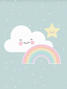 A superlative illustration on this poster. Fits perfectly into the baby room. Cute Wallpapers, Wallpaper Backgrounds, Iphone Wallpaper, Alphabet Poster, Image Deco, Baby Posters, Baby Art, Unicorn Party, Cute Illustration