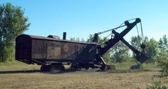 The Marion Le Roy steam shovel, biggest remaining steam shovel in the world, it sits, rusting, in Marion NY. I forced my brother to make a detour on a x-country trip to photo it for me...Hasn't run since 1947 but it NEEDS to be preserved!