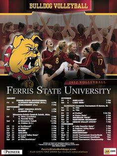 Women's Volleyball Schedule Poster