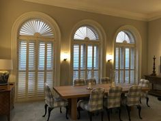 Buy Window Shutters in London from The Shutter Shop Buy Windows, Window Shutters, Valance Curtains, Dining Room, London, Kitchen, Home Decor, Blinds, Shades
