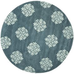 Soho Slate Blue/Light Blue Area Rug