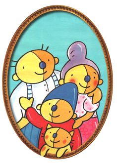 Pompom and his grandparents. I Love School, Grandparents, Teaching, Illustration, Projects, Baby, Kids, Crafts, Fictional Characters