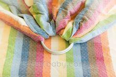 paxbaby, girasol, wrap conversion ring sling, WCRS, Elemental Rainbow, babywearing, Diamond Weave, baby carrier