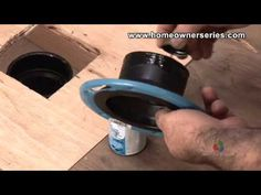 How to Fix a Toilet - Wooden Sub-Flooring Flange Repair - Part 2 of 3 (HomeownerSeries)