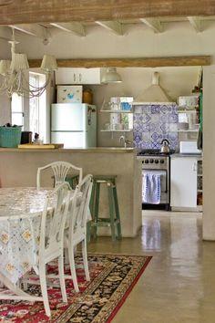 Mayolica en la cocina