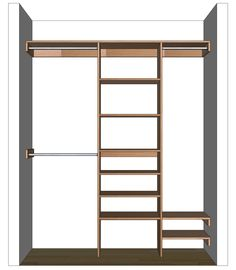 Free woodworking plans to build a custom closet organizer for wide reach-in closets. Can be customized to suit your needs and budget. ...
