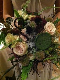 My gorgeous organic inspired wedding bouquet.