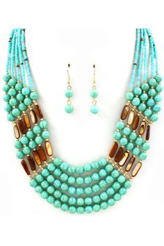Amber Necklace in Turquoise on Emma Stine Limited
