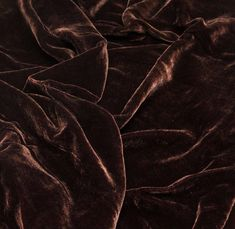 Dark Brown Silk Velvet Fabric - Default Title