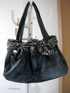 reciclando o jeans on pinterest old jeans denim bag and recycled denim. Black Bedroom Furniture Sets. Home Design Ideas