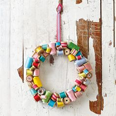 wreath...craft room style