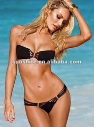 Cheap bikini for women, Buy Quality bikini sexy directly from China bikini sexy bikini Suppliers: Solid Black Body Sexy Bikini For Women Bandage Push-up Padded Bra Triangle Swimsuit Swimwear Newest 2016 Sexy Bikini, Bikini Noir, Bikini Push Up, Haut Bikini, Black Bikini, Black Swimsuit, Vs Bikini, Swimsuit Tops, Bikini Bottoms