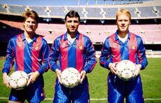 Laudrup, Stoichkov & Koeman. FC Barcelona 1990/91.