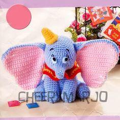 Crochet doll amigurumi PDF pattern - Dumbo. $6.00, via Etsy.