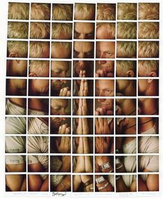 Maurizio Galimberti's shoots portraits of celebrities by making Polaroid grids. Each square is an individual photo!     Pictured above: Sting
