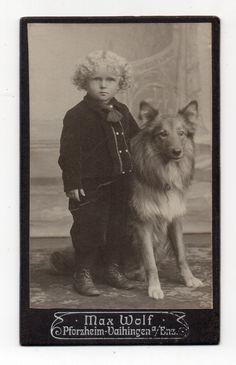 Vintage Cabinet Card Photo Adorable Little Girl or Boy Well Groomed Dog Studio Portrait Vintage Photographs, Vintage Photos, Antique Photos, Vintage Dog, Vintage Children, Photos With Dog, Dog Pictures, Celebrity Dogs, Nanny Dog