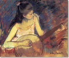 Girl with a banjo (1893) Mary Cassatt