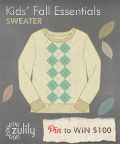 #zulily is having a #fall essentials contest! All ready for school with this sweater!