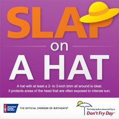 Wearing a hat can be fashionable & save your life