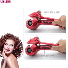 [Visit to Buy] Automatic Curler with LED Steam Hair Curlers Perm Curlers Steamer Curl Hair Rolloer Styler air Wand rotating curling iron #Advertisement