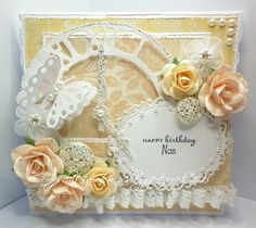 What a beautiful card, love the soft colors, and the lovely flowers and butterfly. From coops cluttered corner: Birthday time Nan.