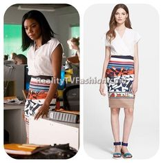 #BeingMaryJane Multi-Colored Sleeveless Dress