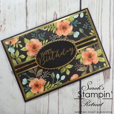 Handmade Birthday Card created by UK Stampin' Up Demonstrator Sarah Phelan for Sarah's Stampin' Retreat using the Whole Lot of Lovely DSP from Stampin' Up