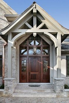 Timber Frame Home Love The Front Entrance Way If