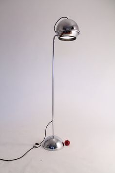 HUGE CHROME EYEBALL floor lamp  in the manner  Gepo from Holland  from the 70s mid century vintage retro era