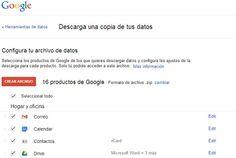 Google Takeout es una herramienta online y un servicio muy poco conocido de Google pero muy práctico, y lo que te permite es hacer una copia de seguridad de todos los datos que Google tiene sobre tu cuenta de usuario incluyendo los de Youtube, Picassa, Gmail y Drive.