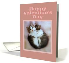 Happy Valentine's Day, Kittens in Love card