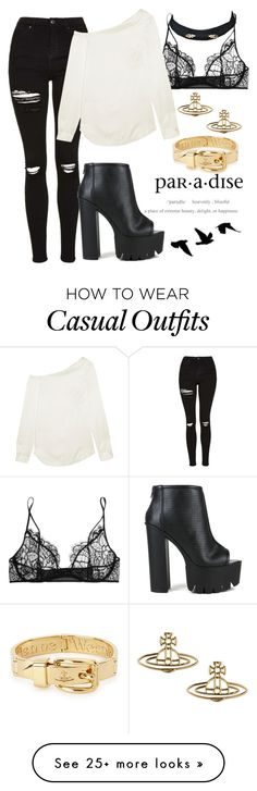"""""""Nana Osaki inspired casual look"""" by limbria on Polyvore featuring Kiki de Montparnasse, Topshop, Fahrenheit, Jil Sander, Vivienne Westwood and Cotton Candy"""