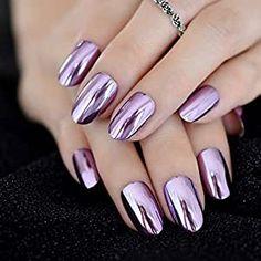 Mirror Nail Polish, Mirror Nails, Cute Nails, Pretty Nails, Nail Store, Nagellack Design, Nail Length, Metallic Nails, Metallic Colors