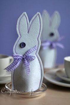 Felt Easter Bunny Egg Cosy 1