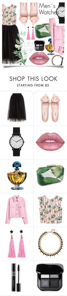 """""""Men´s Watches- Wome´s Outfit"""" by melisafash on Polyvore featuring moda, Skagen, Lime Crime, Guerlain, MANGO, Joomi Lim y Christian Dior"""