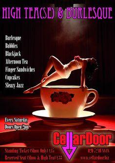 SATURDAY AFTERNOON HIGH TEAS u0026 TEASE at Cellar Door & The 17 best Cellar Door images on Pinterest | Basement doors Cellar ...
