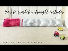 Annaboo's house: Crochet a cosy draught excluder (and stay warm this winter)