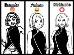 Wtf Ikemoto drawing style is horrible  Kishimoto is the best ❤️❤️❤️