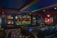 multiple tvs on a wall basement - Google Search