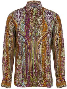 pics of paisley shirts | Etro Paisley Linen Shirt in for Men - Lyst
