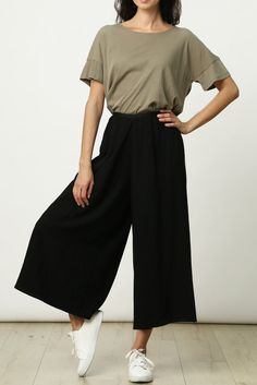 """It's not often you find a pair of pants that are both ultra-chic and ultra-comfy. Even better, they pair easily with your favorite white tennies! Dimensions: Extra Small measures 11.5"""" in width at wai"""
