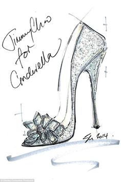 You shall go to the ball: Nine of the world's top designers were asked to create their own take on Cinderella's iconic glass slipper, including Jimmy Choo's creative director Sandra Choi whose design is pictured