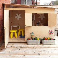 planter-beverage-tubs / plywood playhouse