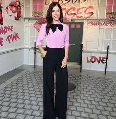 Lisa Eldridge (@lisaeldridgemakeup) in black/pink in Monaco