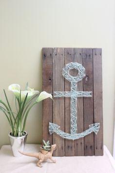 anchor nail and string art